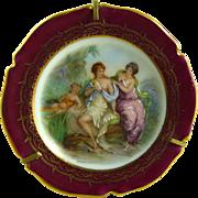 Vintage Limoges Plate Miniature