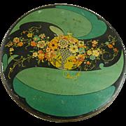Vintage Art Deco Tin Tindeco Flower Basket