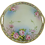 Vintage Nippon Porcelain Hand Painted Plate Roses