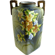 Vintage Nippon Porcelain Vase Yellow Flowers