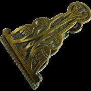 Antique Arts and Crafts Brass Desk Clip