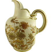 Antique Royal Worcester Blush Ivory Flat Back Pitcher