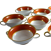 Set of 8 Vintage Rosenthal Porcelain Cream Soups