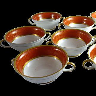 Set of 8 Vintage Rosenthal Porcelain Cream Soups