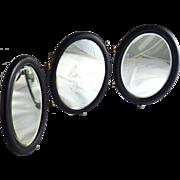 Antique Victorian Triptych Tri Fold Folding Travel Mirror