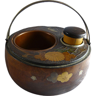 Antique Japanese Kiri Wood Tobacco Box
