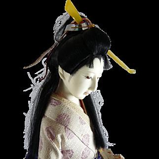 Vintage Japanese Doll Geisha Gofun