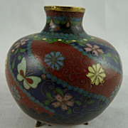 Japanese Meiji Cloisonne Small Footed Vessel