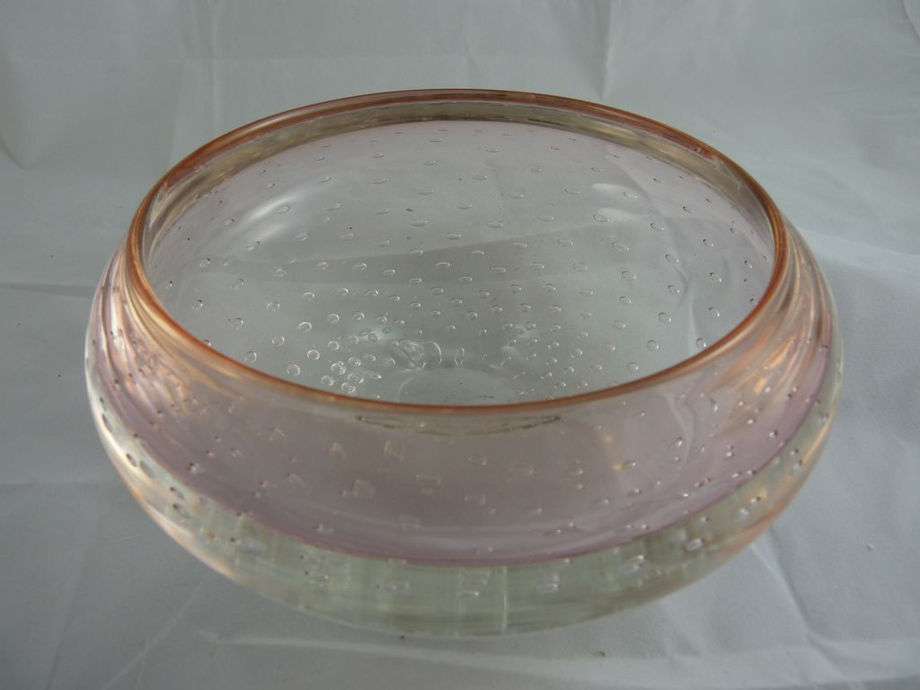 Vintage Mark Matthews Controlled Bubble Glass Bowl