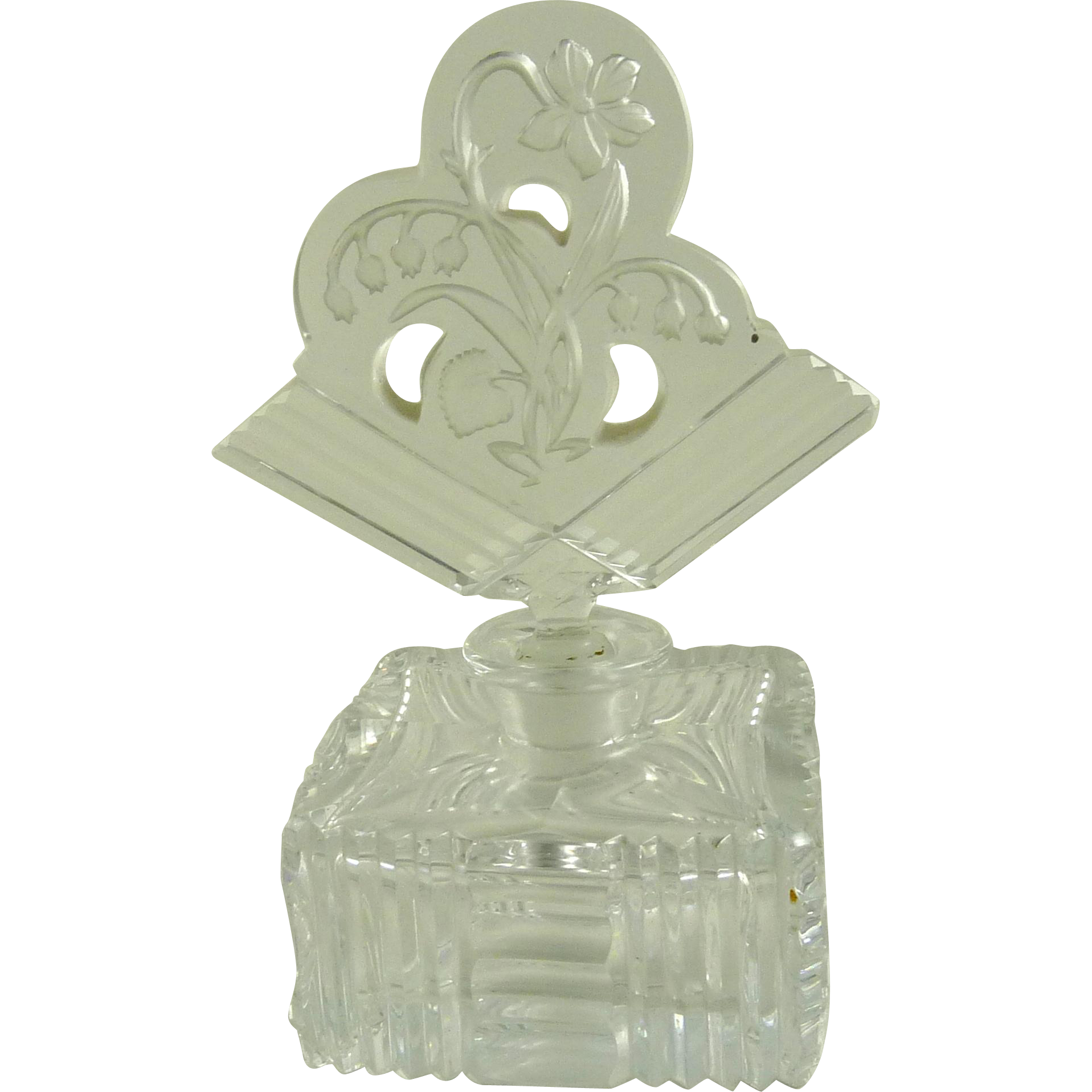 Vintage Czech Glass Perfume Bottle Art Deco