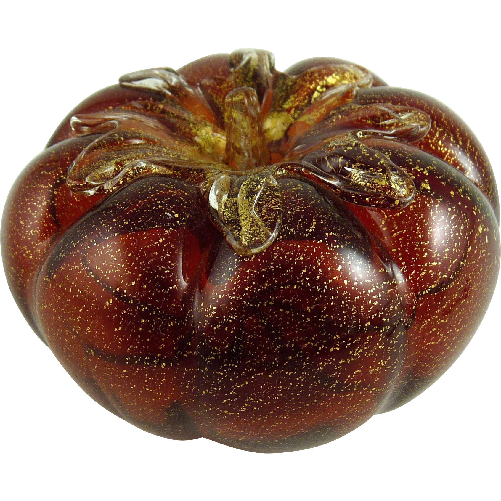 Vintage Murano Glass Paperweight Tomato
