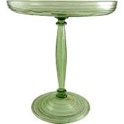 Carder Steuben Spanish Green Compote Shape 6356