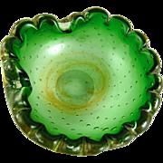 Vintage Murano Glass Ashtray Controlled Bubble