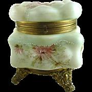 Antique Wavecrest Vanity Box C F Monroe