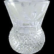 Vintage Edinburgh Shot Glass Thistle Pattern Cut Glass