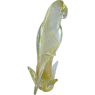 Vintage Murano Glass Parrot
