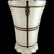 Vintage Anchor Hocking Manhattan Vase with Ormolu Mounts