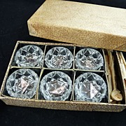 Czech Glass Open Salts in Original Box