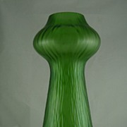 Impressive Art Nouveau Rindskopf Green Hyacinth Vase