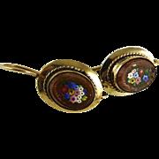 Antique Micro Mosaic Earrings Micromosaic