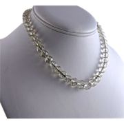 Art Deco Rock Crystal Bead Necklace
