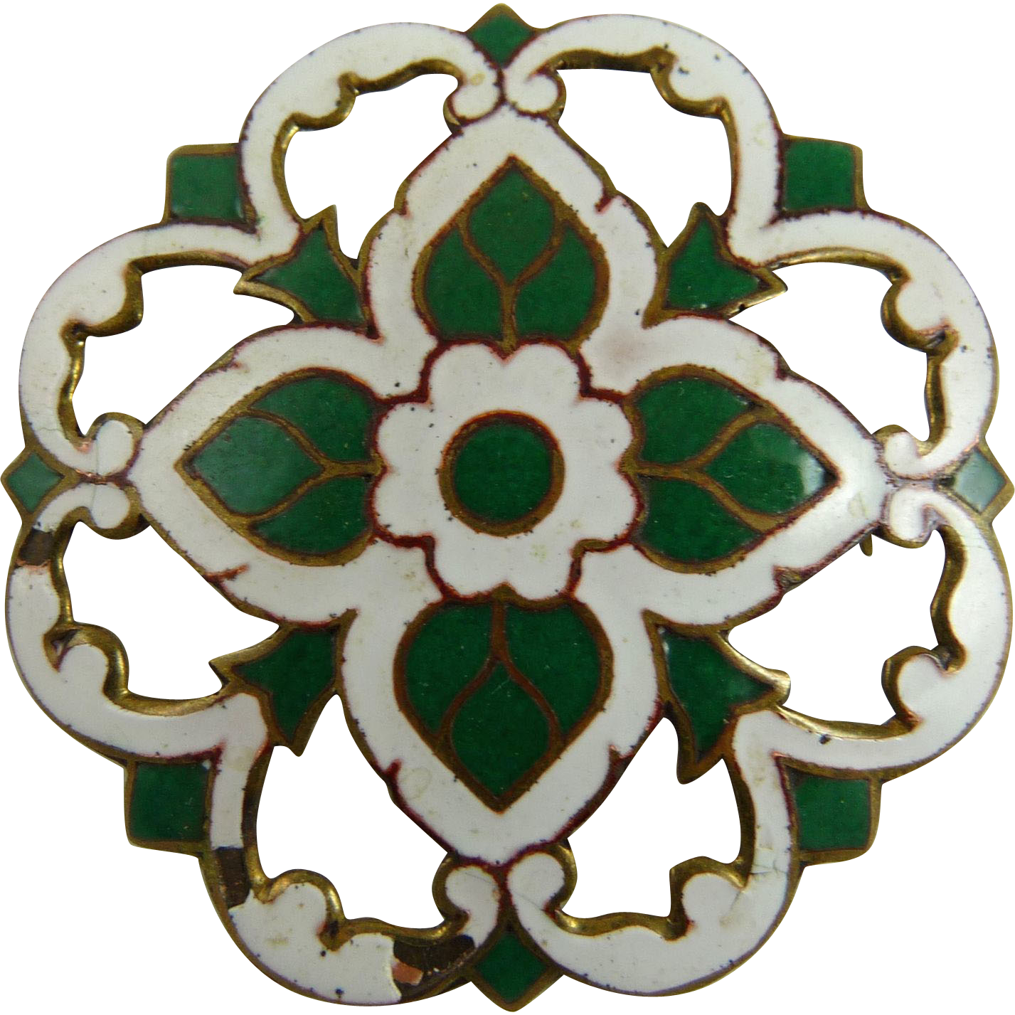 Vintage Thai Enamel Pin Brooch