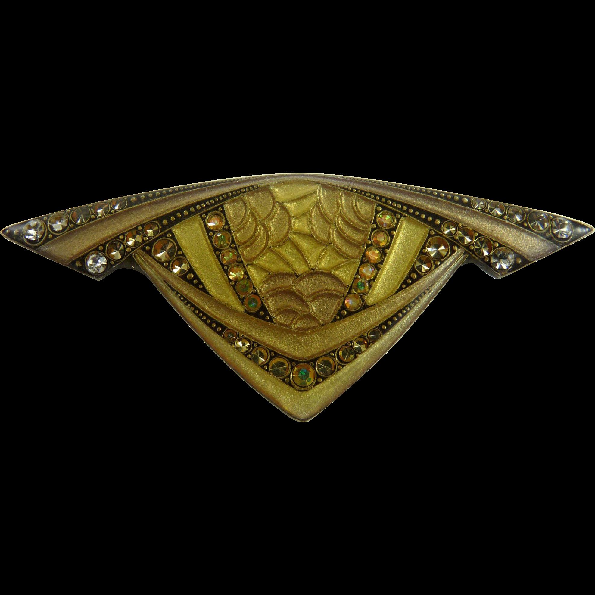 Vintage Pierre Bex Art Deco Style Pin