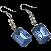 Vintage Art Deco Drop Earrings Pierced