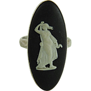 Vintage Wedgwood Black Jasperware Ring
