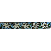 Vintage Sterling Guilloche Enamel Bar Pin