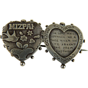 Antique Victorian Mizpah Sweetheart Pin Sterling
