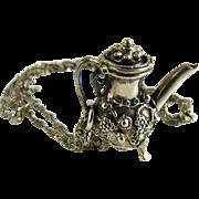 Vintage Danecraft Sterling Silver Pendant Teapot