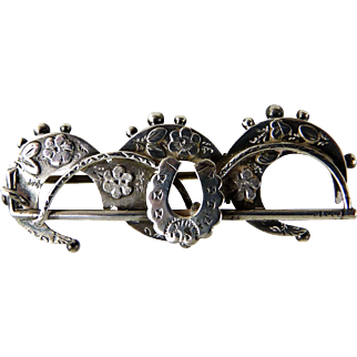 Antique Victorian Sterling Silver Brooch