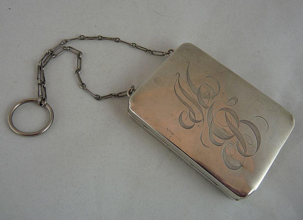 Antique Edwardian Sterling Silver Necessaire Aide Memoire