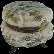 Antique C F Monroe Wavecrest Dresser Box Jewelry Casket