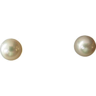 Nice 8.75 mm Cultured Pearl Stud Earrings