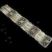 Vintage Mexican Silver Tone Bracelet