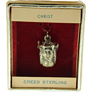 1970's Store Stock Creed Sterling Christ Charm