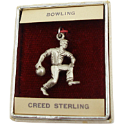 1970's Store Stock Creed Sterling Bowler Charm