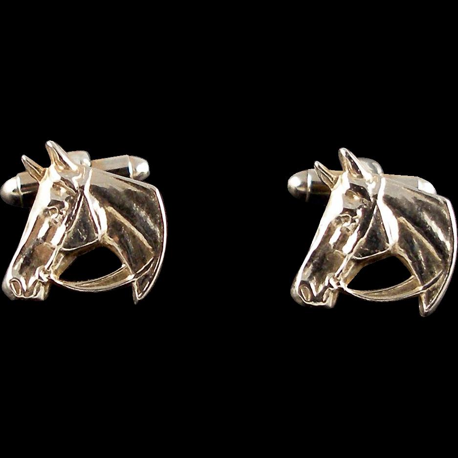 Vintage Horse Head Cuff Links