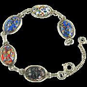 Vintage Millefiore Cabochon Bracelet