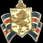 Vintage Accessocraft British War Relief pin
