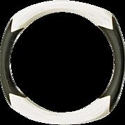 Vintage Black and White Plastic Bangle