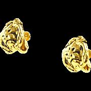 Vintage Anne Klein Lions Head Earrings
