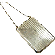 Vintage Sterling Silver Coin or Dance Purse