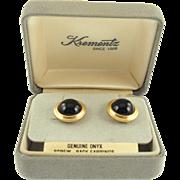 Vintage Krementz Onyx Earrings