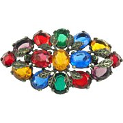 Vintage Pot Metal Multi-color Brooch