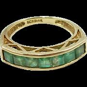 Vintage 14K Natural Emerald Ring