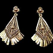 Antique Oaxacan Victorian 14K Earrings