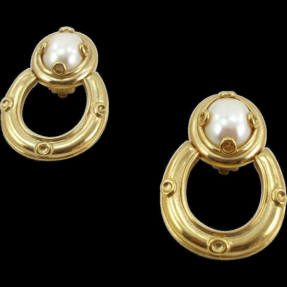 Vintage Givenchy Door Knocker Earrings